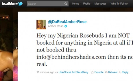 Amber Rose's Tweet Screenshot
