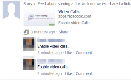 facebook video calling spam