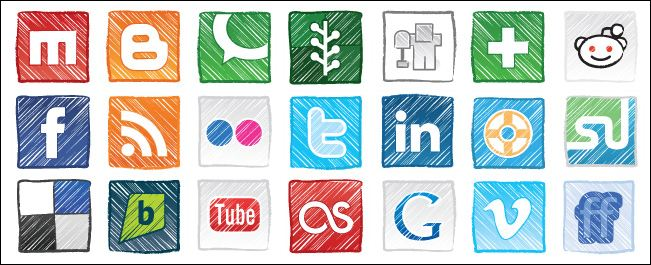 free-grungy-social-media-icons