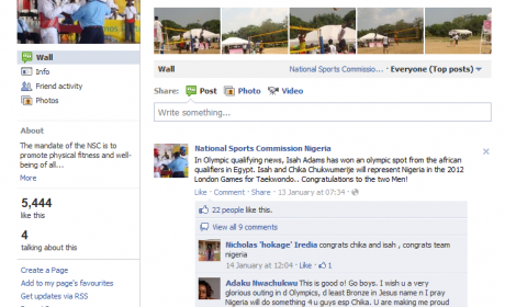 National Sports Commission Nigeria-Facebook page