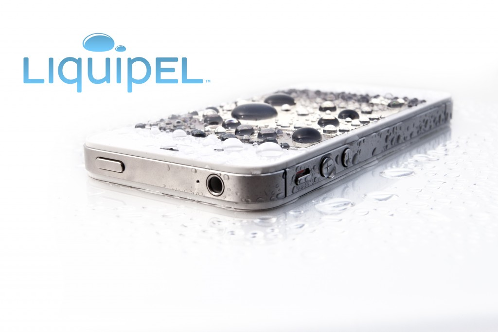white iPhone liquipel