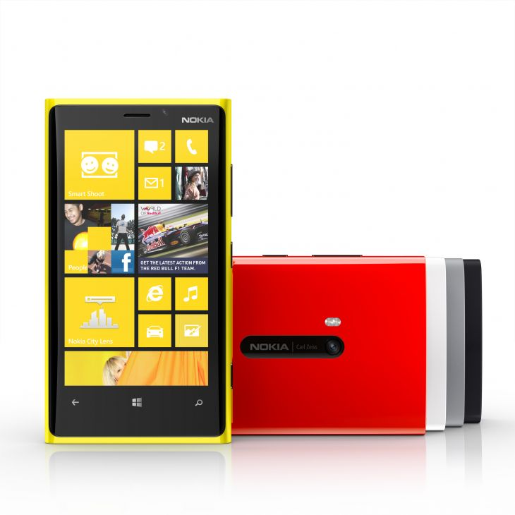 The Lumia 920 has a 4.5-inch display