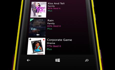 iROKOtv App on Nokia Interface