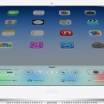 The iPad Air features Apple's new lightning connector and iOS 7