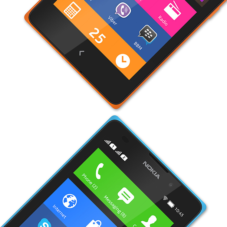Nokia XL home screen