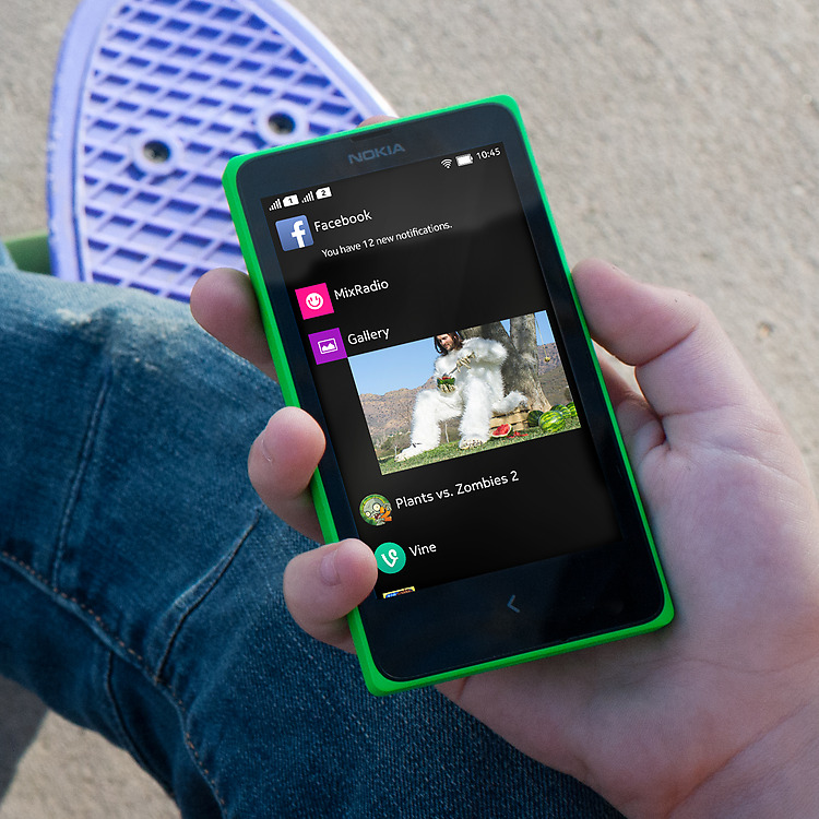 Pre-installed apps on the Nokia X